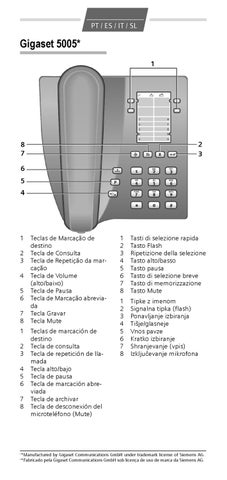 volume toque telefone siemens euroset 3005