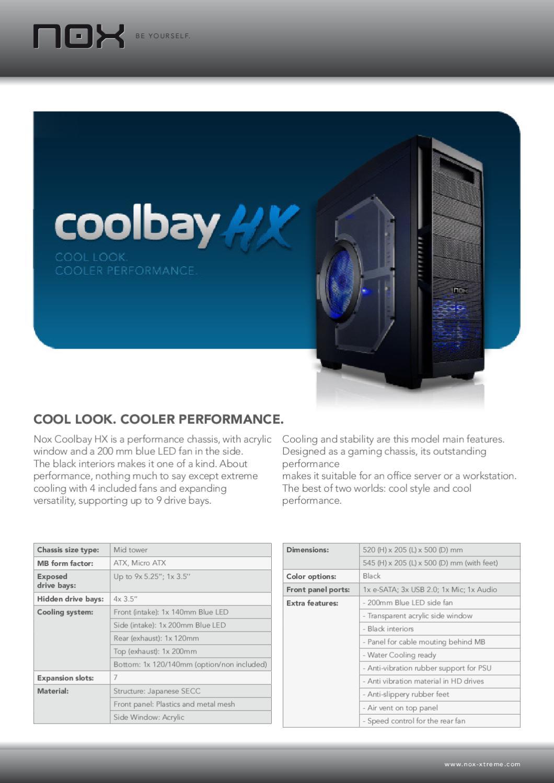 Caixa Mid Tower Nox Coolbay HX - Manual Sonigate by sonigate - issuu