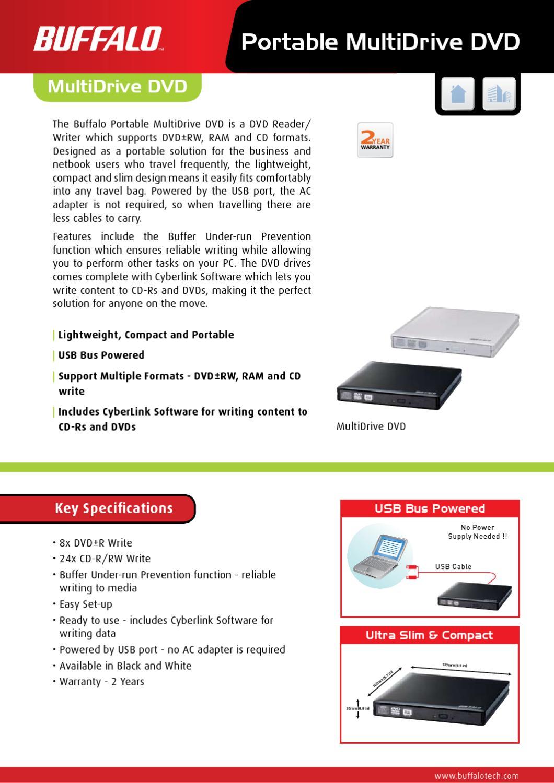Gravador DVD Usb Buffalo DVSM-PN58U2VB - Manual Sonigate by ...
