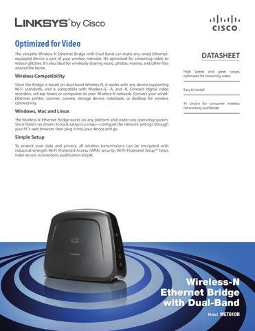 Access Point Linksys WET610N-EU - Manual Sonigate f138c696efaf