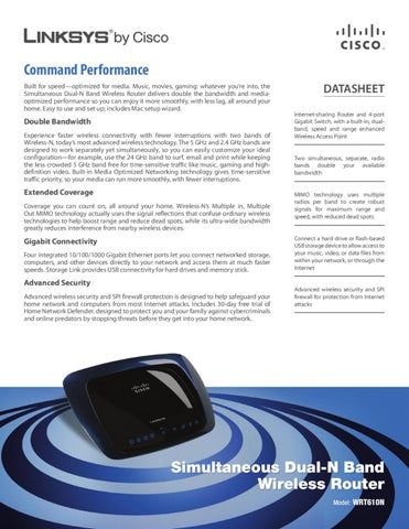Linksys Router Manual