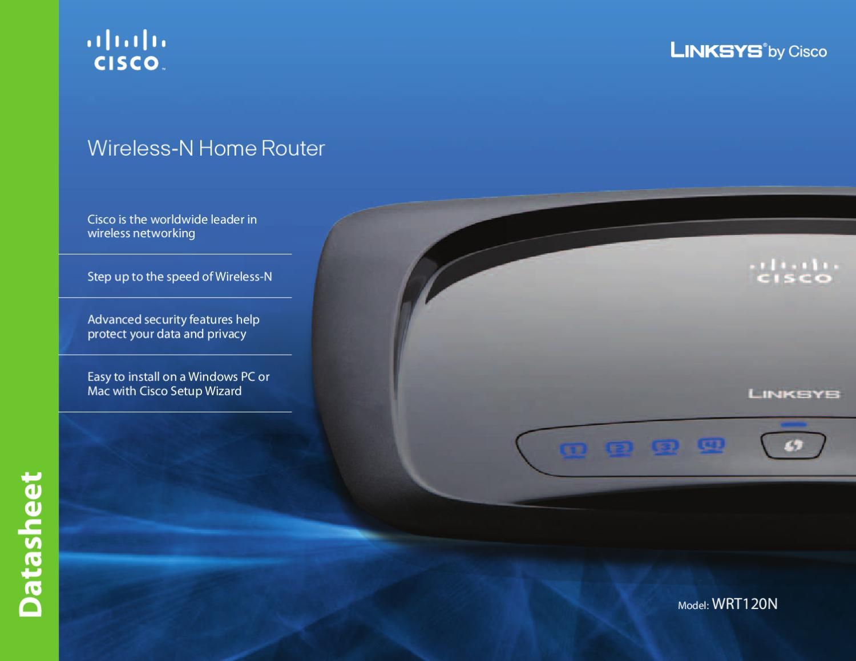 Router Wireless-N Linksys WRT-120N - Manual Sonigate by