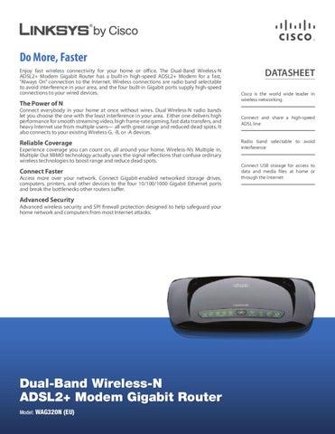 Router com Modem Wireless-N Linksys WAG320N-EU - Manual Sonigate ...