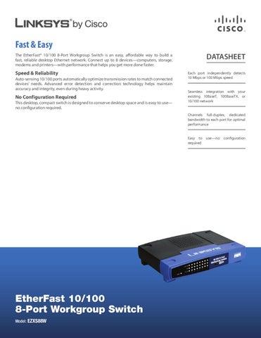 switch 8 portas 10 100mbps linksys ezxs88w manual sonigate by rh issuu com Manual Linksys SD2008 Manual Linksys SD2008