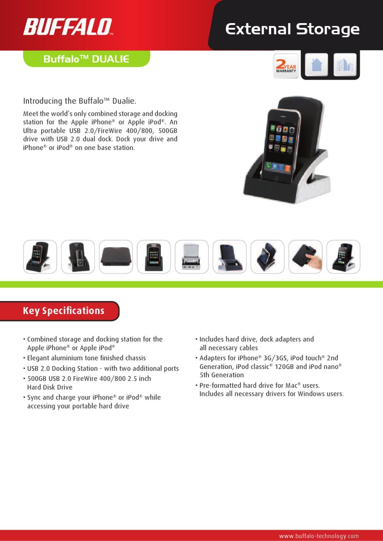 Disco Externo 2.5'' 500GB USB com Dock Station Buffalo HD ...