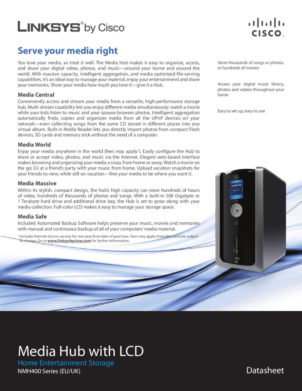 Linksys Media Hub NMH405 500GB - Manual Sonigate by sonigate - issuu