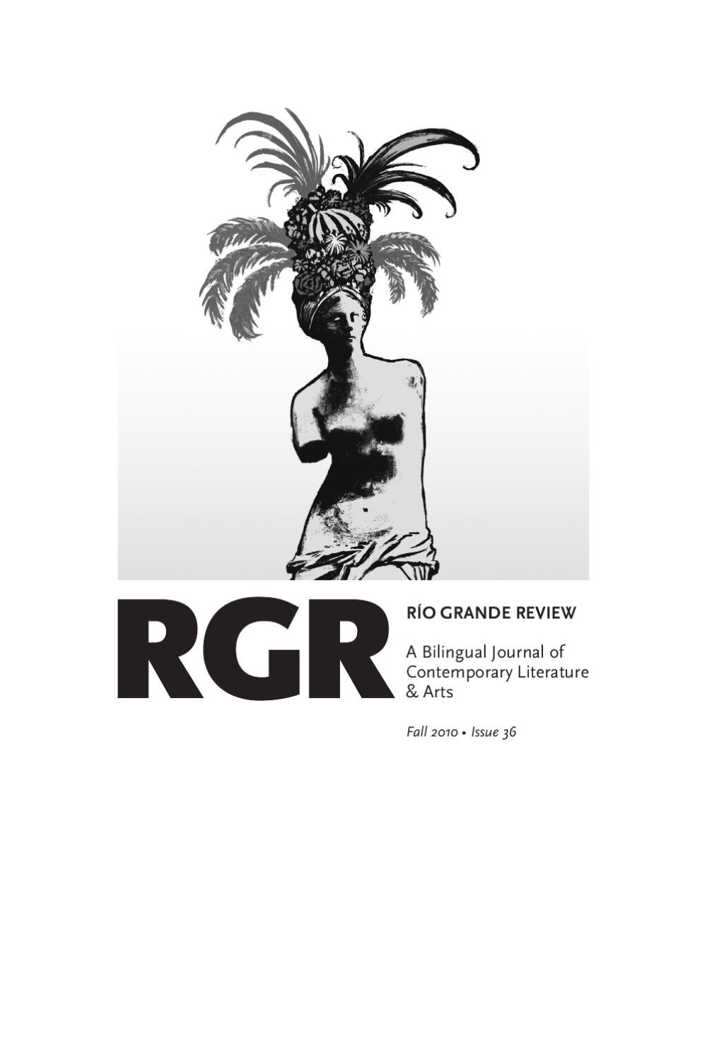 Río Grande Review Fall 2010 by Río Grande Review - issuu 4a8c2be5c850