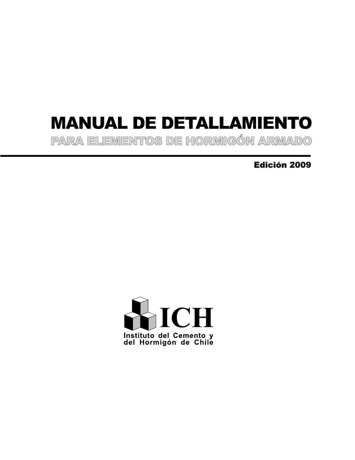 Manual detallamianto elementos hormigon armado by manuel for Hormigon impreso chile