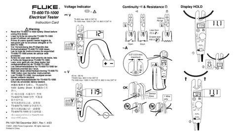 Verificador Tensao, Continuidade Corrente 1000V - Manual Sonigate ...