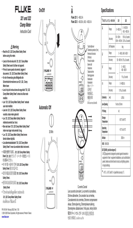 Pinca Amperimetrica Fluke 322 - Manual Sonigate by sonigate - issuu
