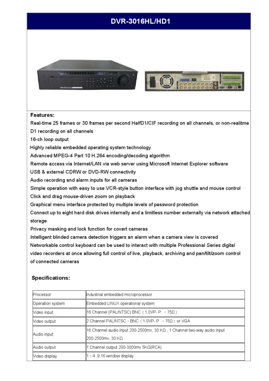 Gravador 8 entradas YLTEK DVR3008 - Manual Sonigate by sonigate ...