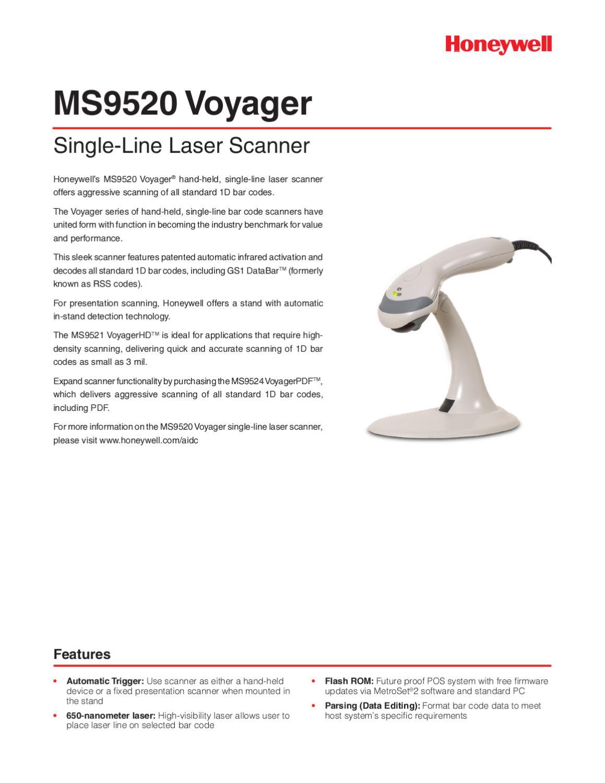 Metrologic Voyager MS9520USB-G - Manual Sonigate by sonigate - issuu