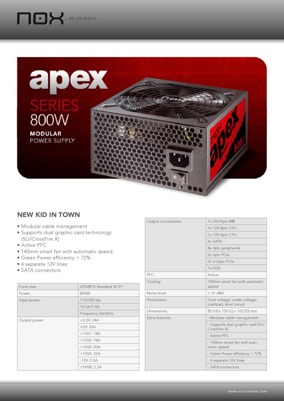 Fonte Modular 800W NOX Apex - Manual Sonigate by sonigate - issuu