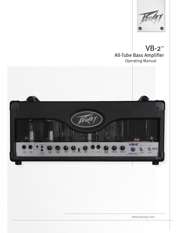 Cabeca Amplificada de Baixo PEAVEY Tour VB-2 - Manual Sonigate by ...