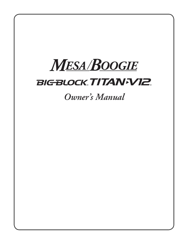 Cabeca Amplificada de Baixo MESA BOOGIE Big Block Titan V-12 ...