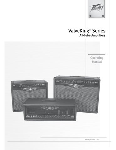 Combo a Valvulas PEAVEY Valve King 212 - Manual Sonigate by ...