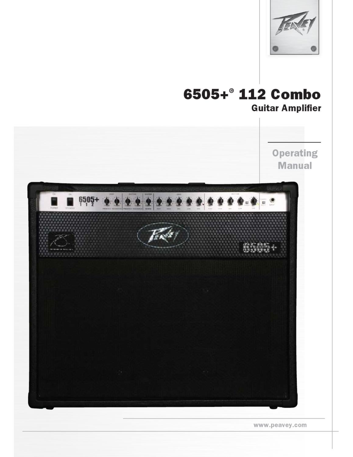 Combo a Valvulas PEAVEY 6505 Plus 112 - Manual Sonigate by ...