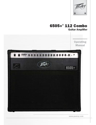 Combo a Valvulas PEAVEY 6505 Plus 112 - Manual Sonigate by sonigate ...