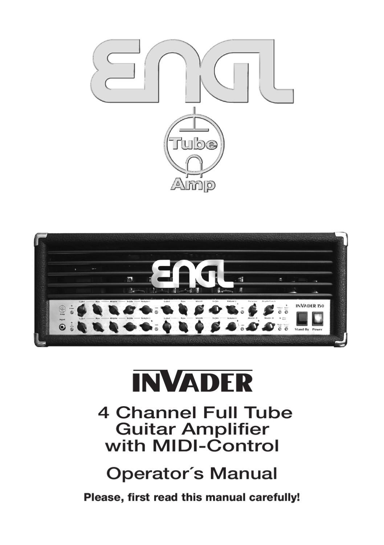 Cabeca a Valvulas ENGL Invader 100 E642 - Manual Sonigate by ...