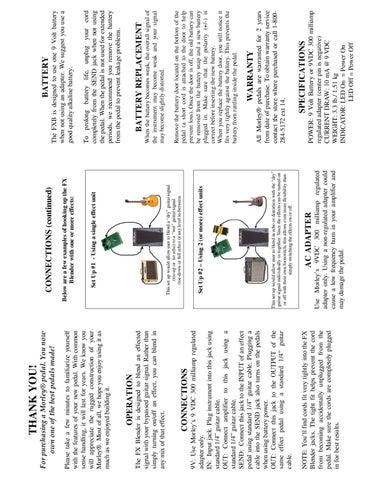 Pedal de Expressao MORLEY FX Blender FXB - Manual Sonigate by ...