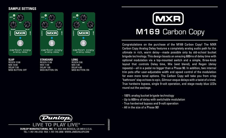 pedal mxr m169 carbon copy analog delay manual sonigate by rh issuu com mxr carbon copy manual pdf mxr carbon copy bright manual