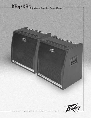 Amplificacao para Teclado PEAVEY KB-4 - Manual Sonigate by ...