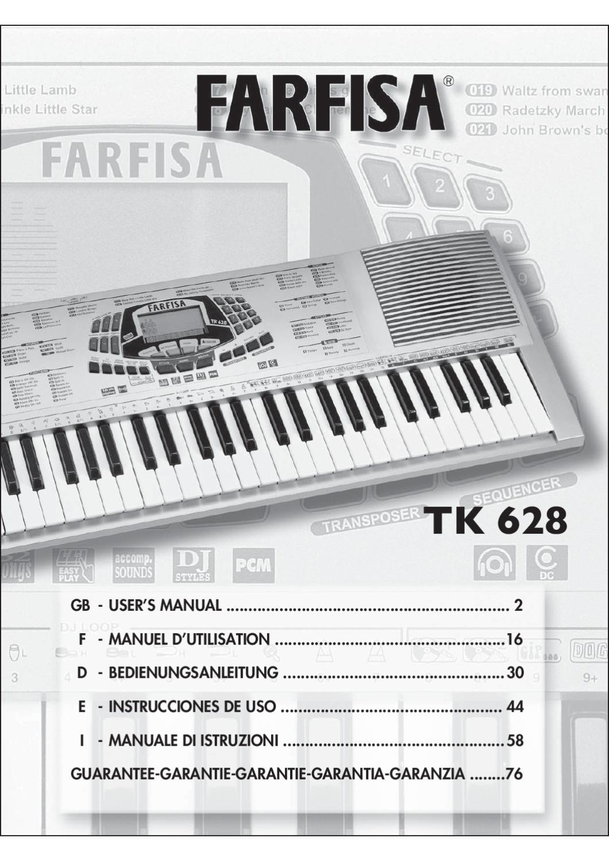 Teclado Digital FARFISA TK628 - Manual Sonigate by sonigate - issuu