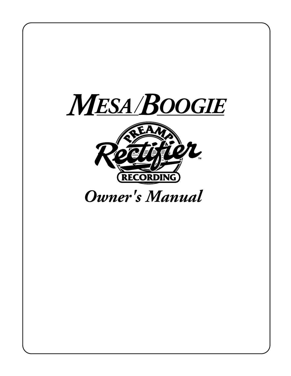 Manual Pre Amplificador Mesa Boogie Rectifier Recording Sonigate Many Parts Of Dual Solo Head Schematic Diagram By Issuu