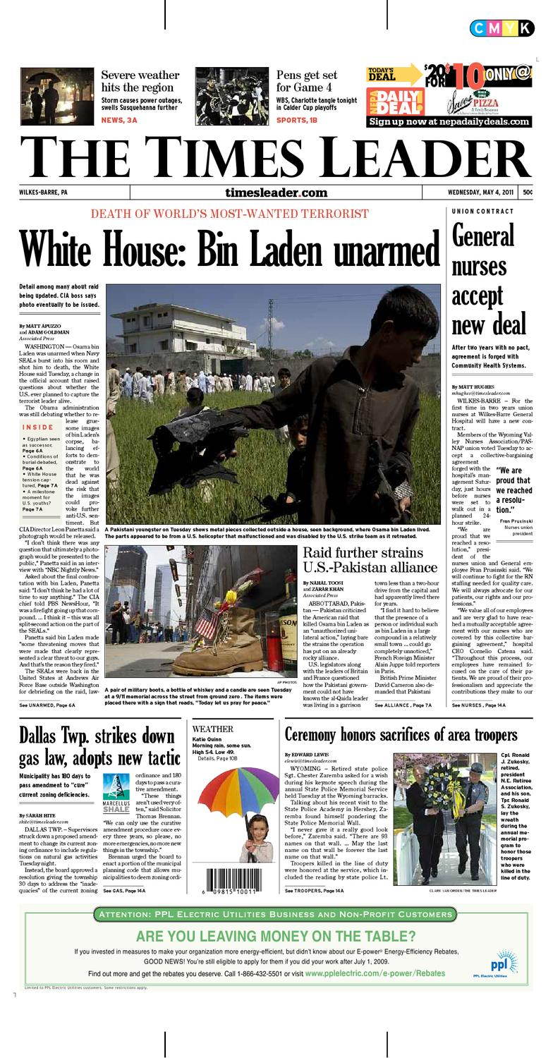 acfd0af60a12 Times Leader 05-04-2011 by The Wilkes-Barre Publishing Company - issuu