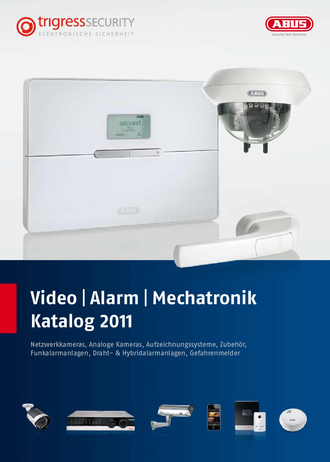 Video Alarm Mechatronik Katalog 2011 by TRIGRESS Security AG - issuu