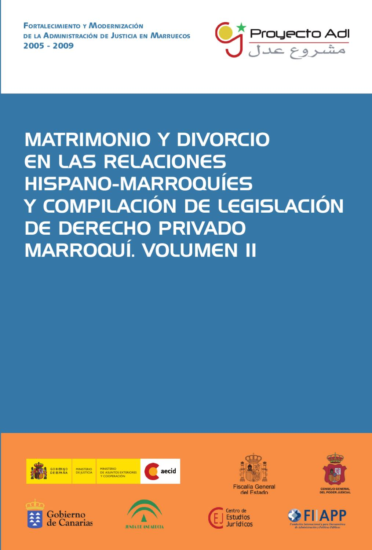 Matrimonio y divorcio en las relaciones hispano-marroquíes II by ...