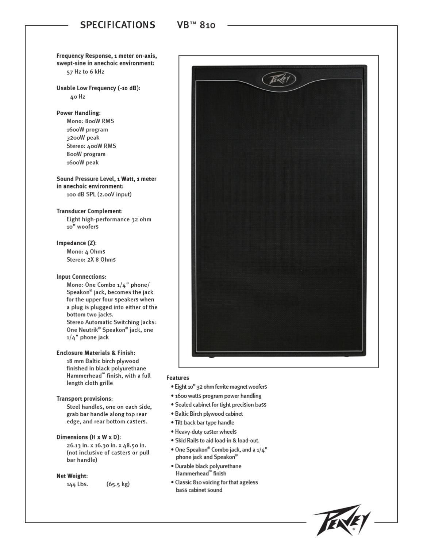 Manual Coluna de Baixo PEAVEY VB 810 [SONIGATE] by sonigate - issuu