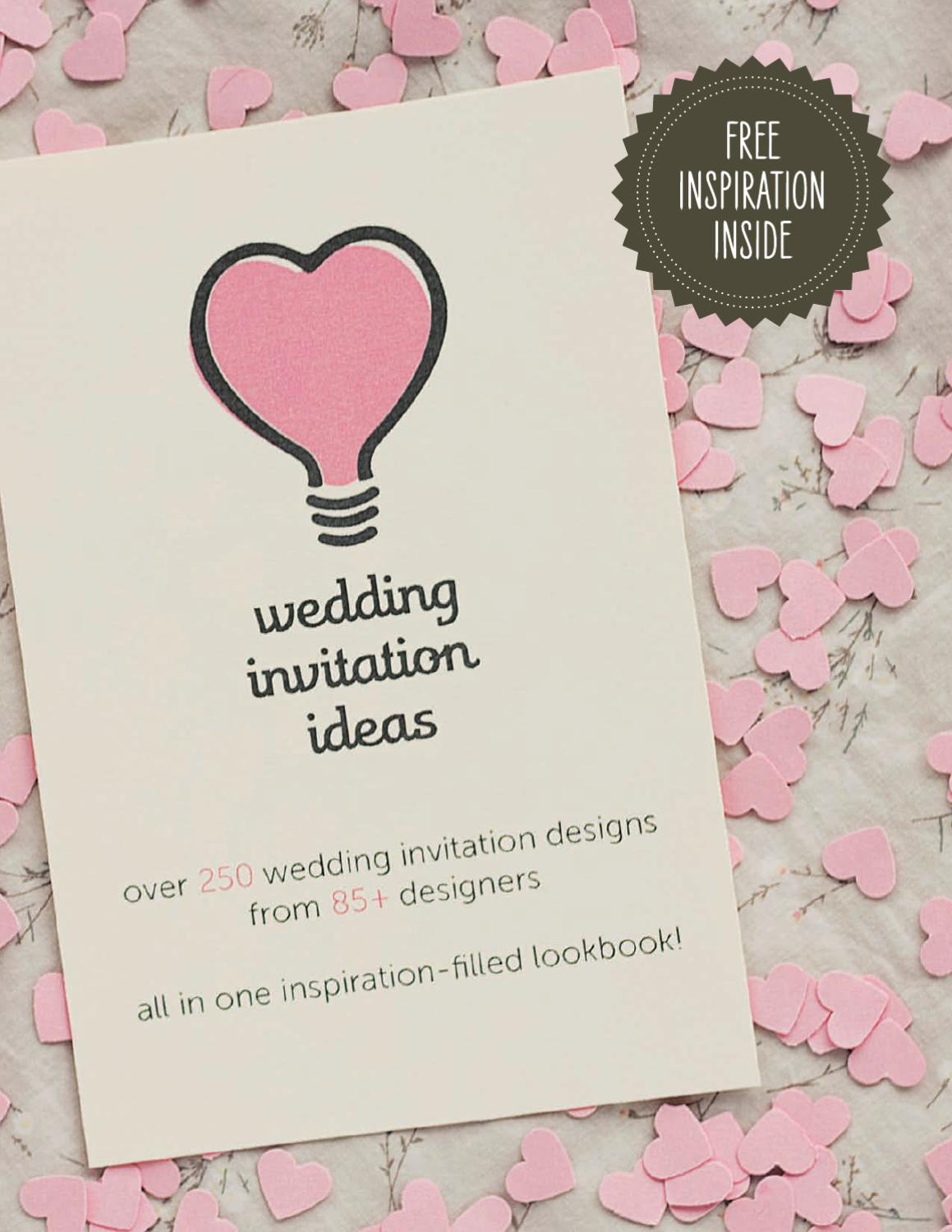 Wedding Invitation Ideas by Kristen Magee - issuu