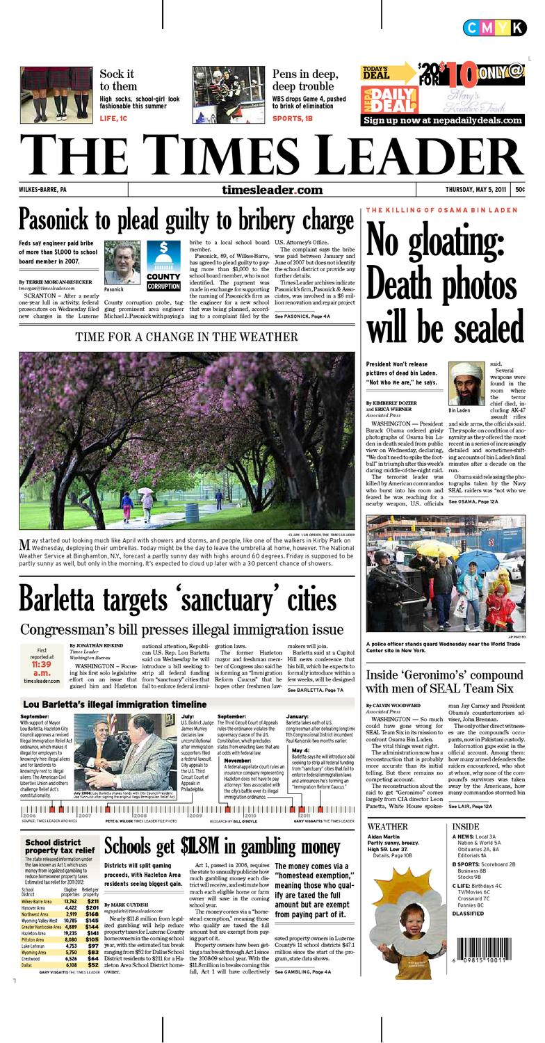 Times Leader 05-05-2011 by The Wilkes-Barre Publishing Company - issuu 886ef3cc3