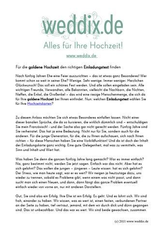 Einladungstext Zur Goldenen Hochzeit By Elena Rongen Issuu