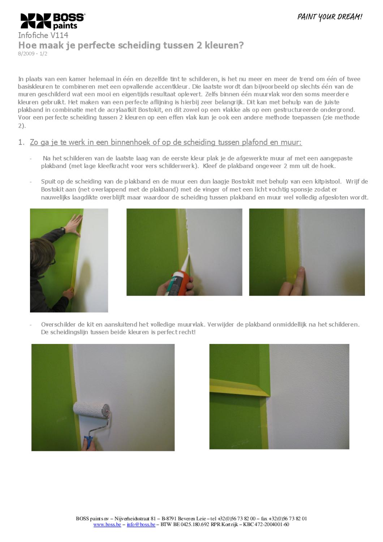 Hoe schilder je een perfecte scheiding tussen twee kleuren by colora de verfwinkel issuu - Scheiding tussen twee kamers ...