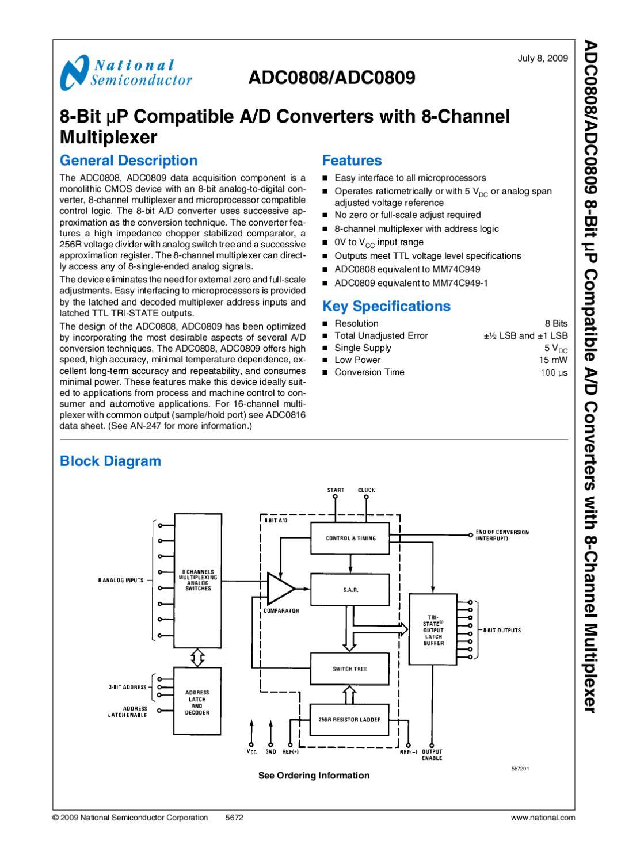 Circuito Integrado Adc0808 Manual Sonigate By Issuu General Block Diagram Of Multiplexer