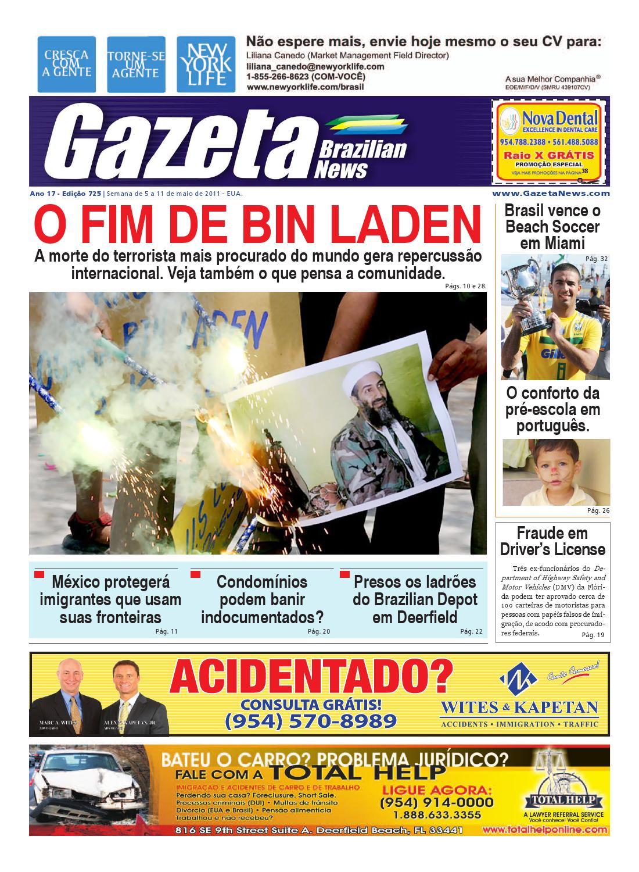 Edição 725 - Gazeta Brazilian News - 5 a 11 de maio de 2011 by Gazeta  Brazilian News - issuu 9eb3ea2f75