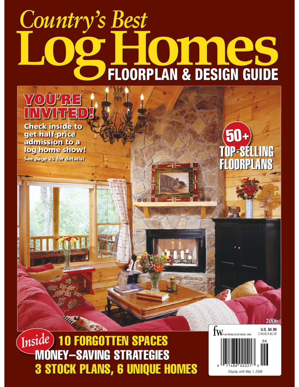 Country's Best Log Homes Floorplan & Design Guide by Honest Abe Log on country homes with porches, simple house designs, bedroom designs, cottage designs, beach house designs, country living, living room designs, farmhouse designs, two-storey house designs, retro bath designs, elegant front porch designs, good phone designs, stone exterior wall designs, country bathroom, townhouse designs, country modular homes, elegant white kitchen designs, master bathroom designs, country looking homes, bungalow designs,