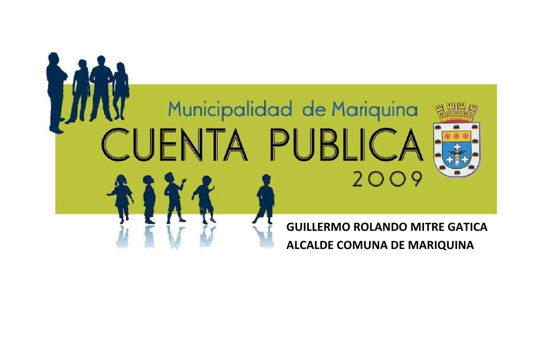 CUENTA 2009 by Municipalidad de Mariquina - issuu fd60a7a43c12