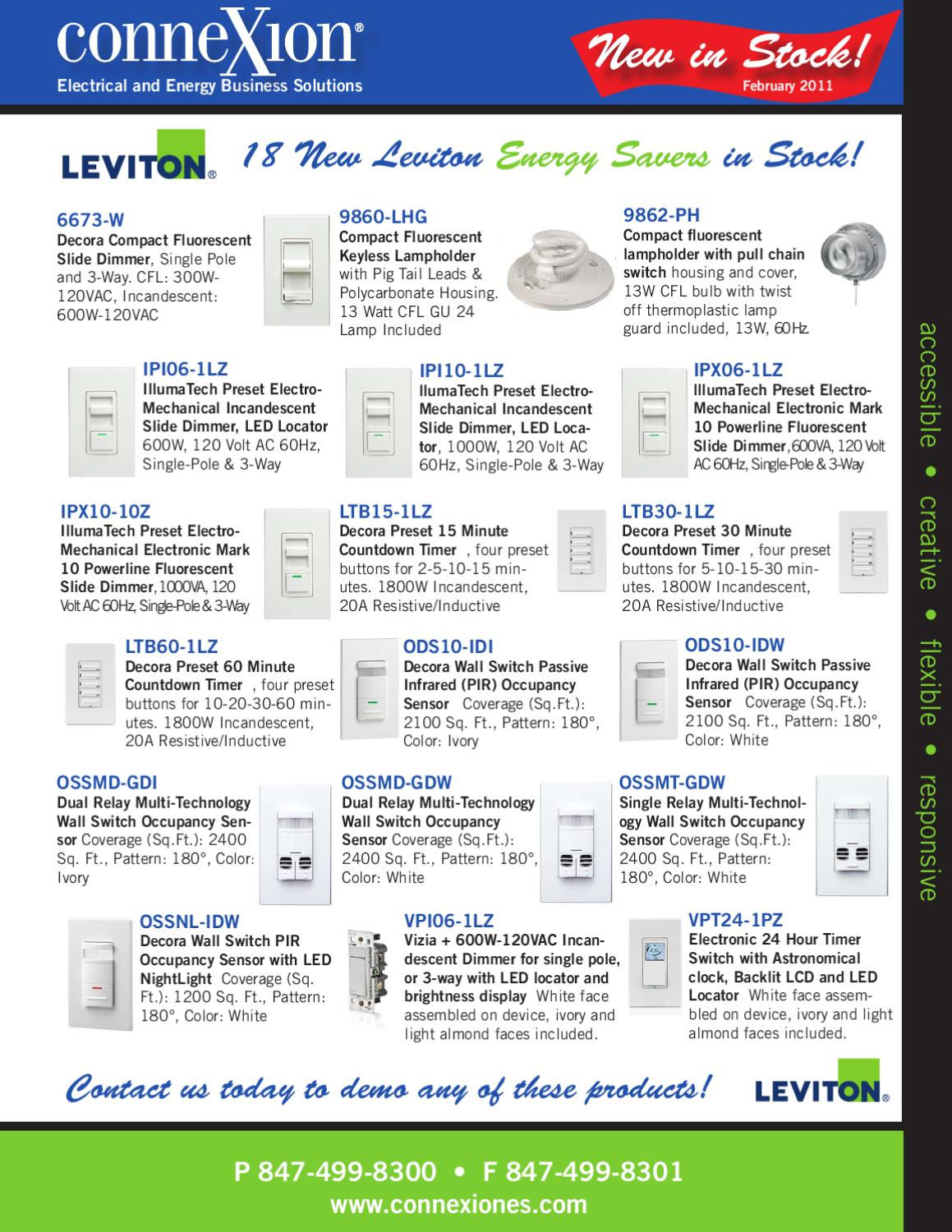 New Products Leviton Devices by Daniel Dobski - issuu