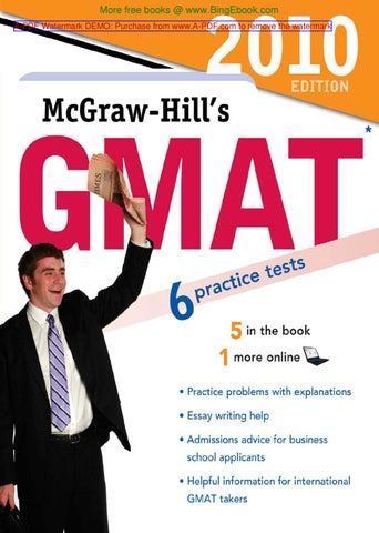 Gmat 2010 by ahmed hamid issuu bingebook a pdf watermark demo purchase from a pdf to remove the watermark fandeluxe Image collections