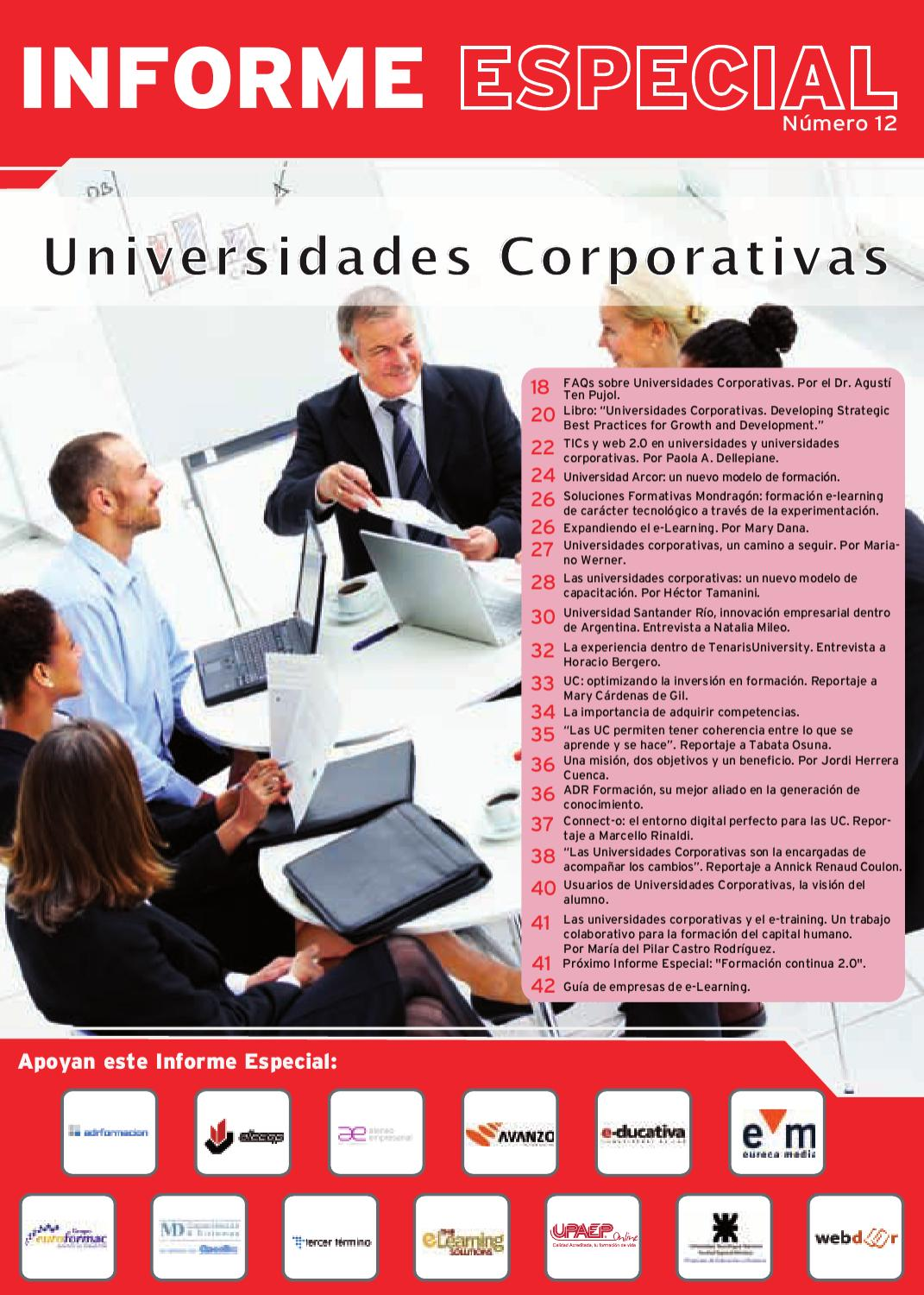 Informe Especial N°12 Universidades Corporativas by Learning ...