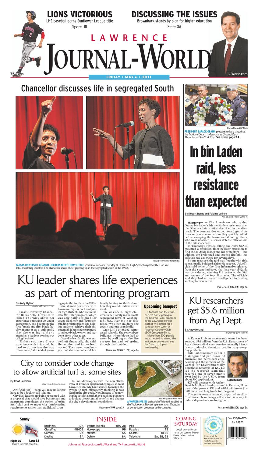 Lawrence Journal-World 05-06-11 revised by Lawrence Journal-World - issuu