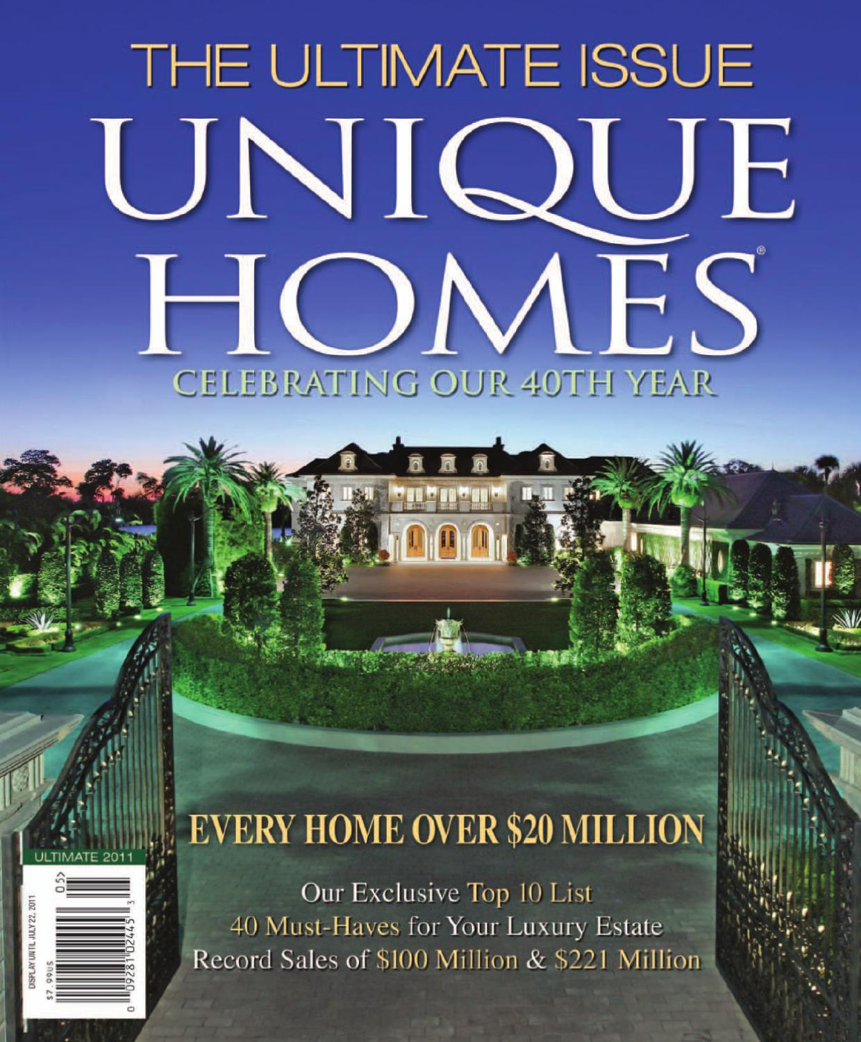Unique homes ultimate issue 2011 by network communications inc issuu sciox Image collections