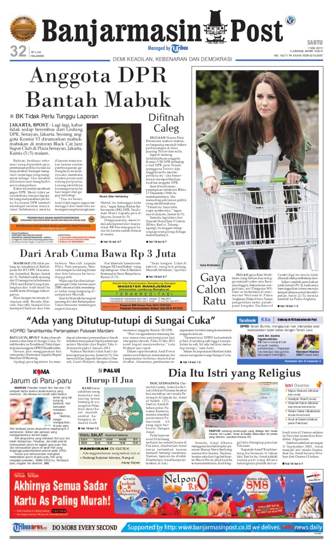 Banjarmasin Post Edisi Sabtu 7 Mei 2011 By Issuu Baju Tdr Frozen Mail Lpk