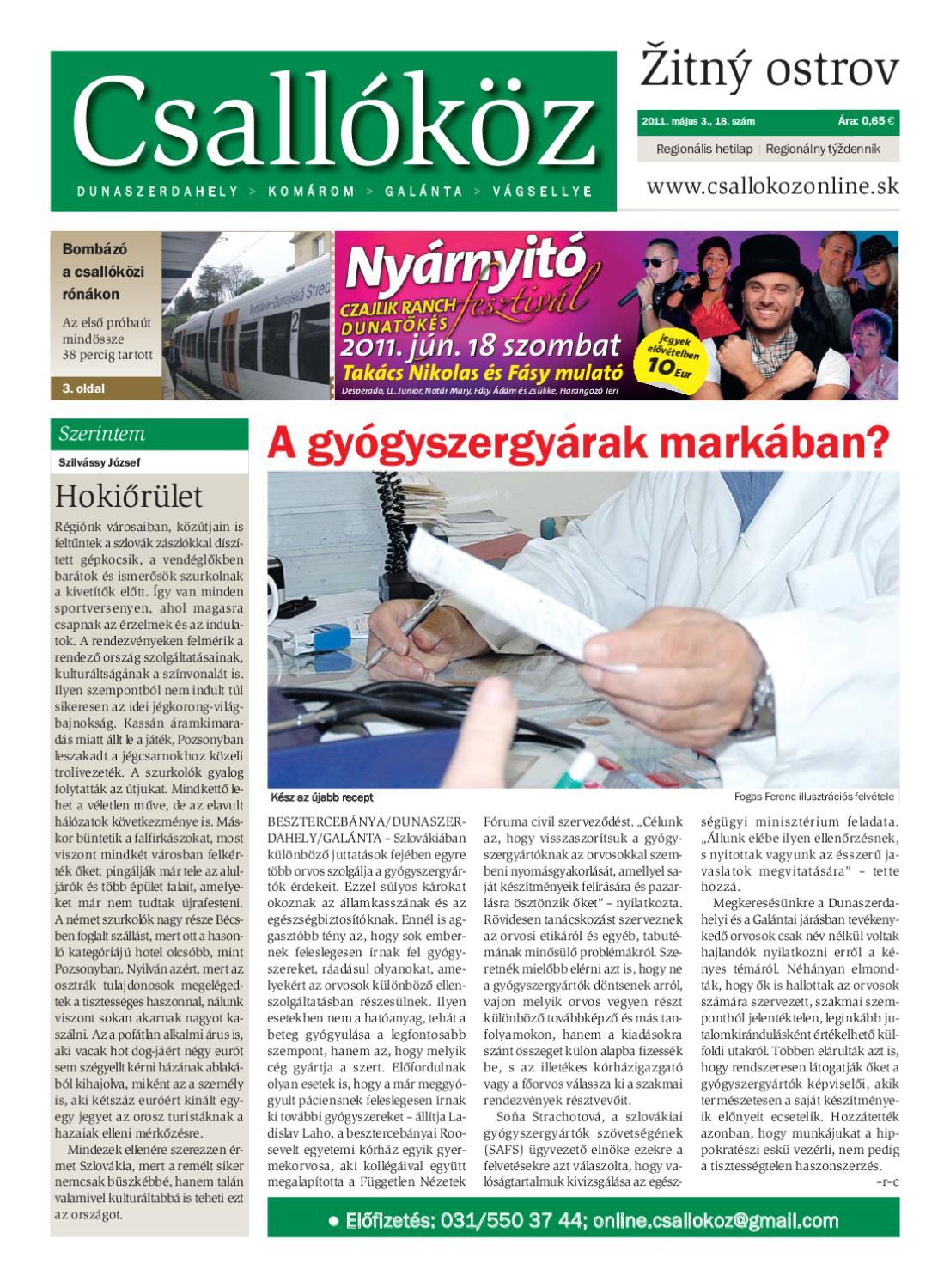 dd1964e9eab4 2011-18 Csallóköz by Csallóköz Šéfredaktor - issuu