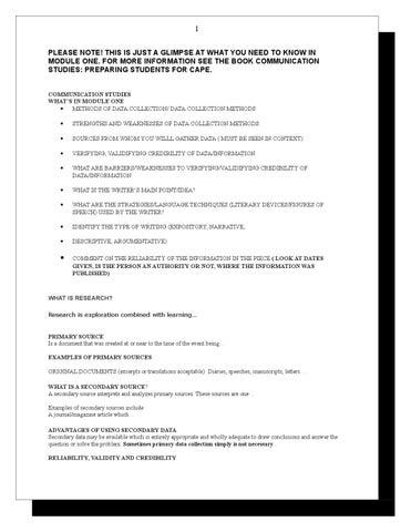 Cape Communication Studies Book