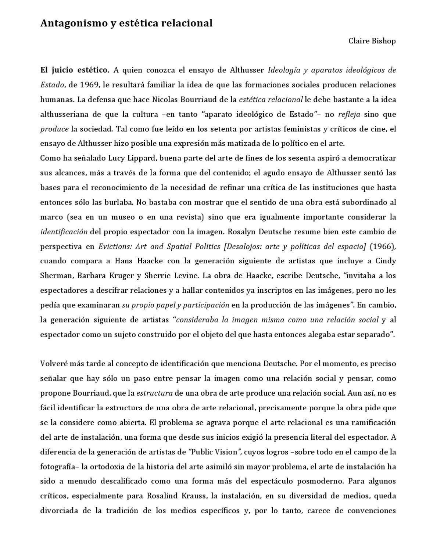 Estetica Relacional Nicolas Bourriaud Pdf