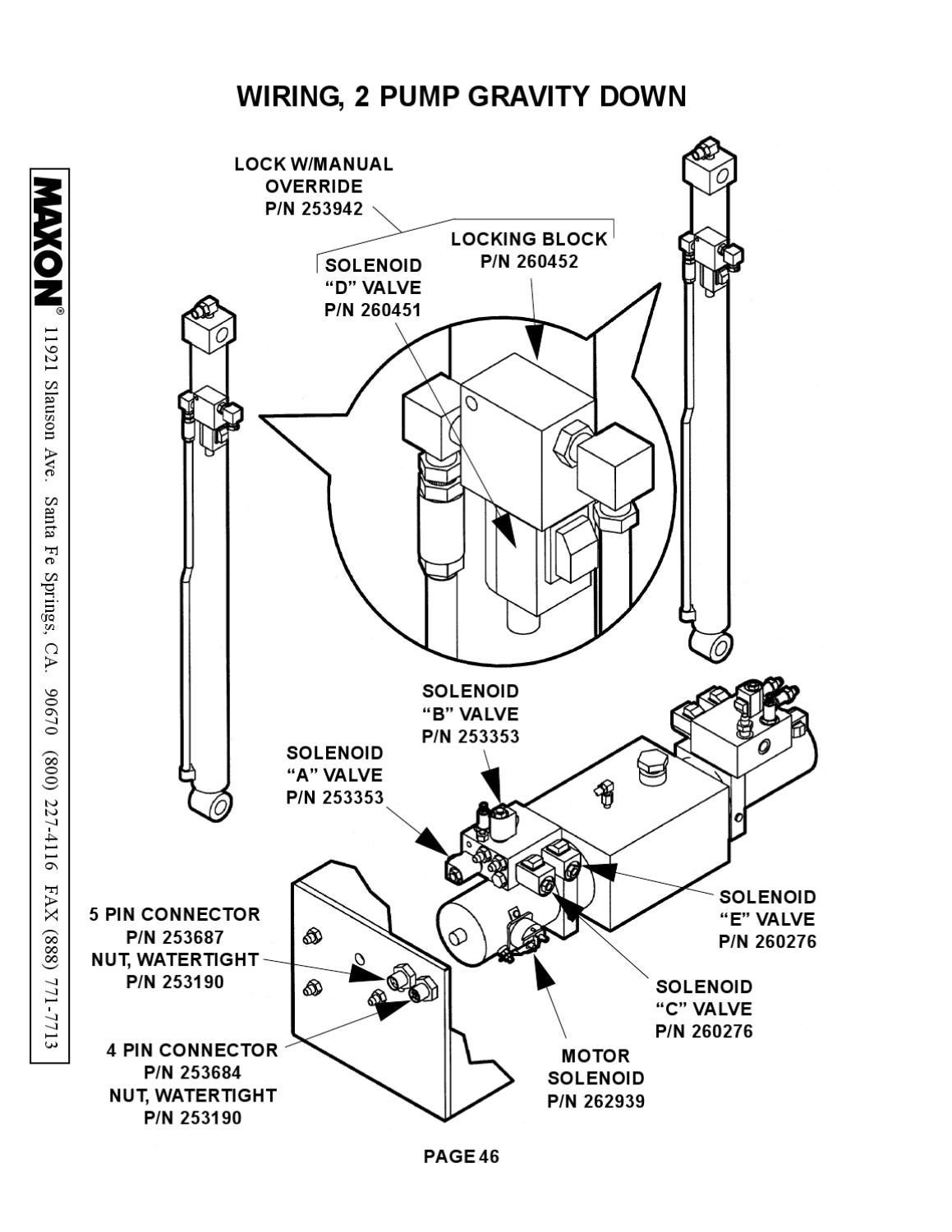 maxon liftgate wiring diagram gate